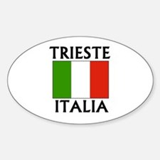 Trieste, Italia Oval Decal
