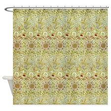 Corncockle design by William Morris Shower Curtain