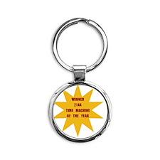 Time Machine Of The Year 2144 Round Keychain