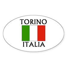 Torino, Italia Oval Decal