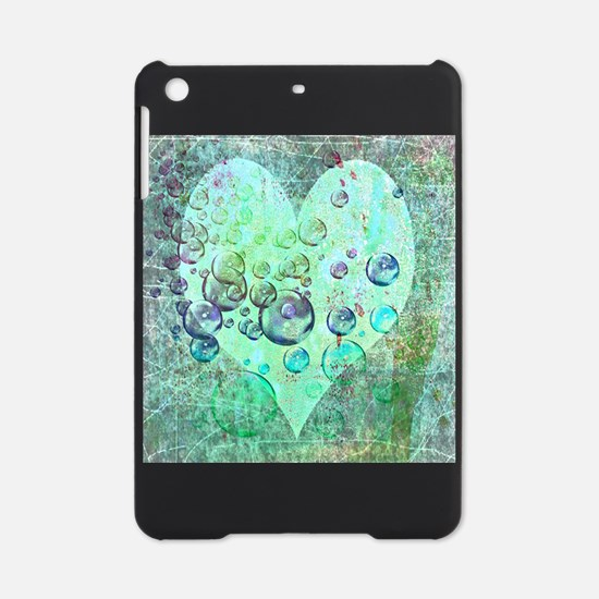bubbles green heart iPad Mini Case