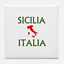 Sicilia, Italia Tile Coaster