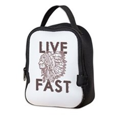 Live Fast Neoprene Lunch Bag