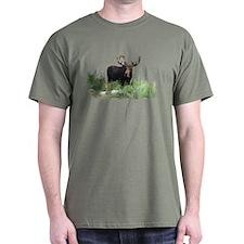 Moose Eating Flowers T-Shirt