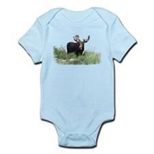 Moose Eating Flowers Infant Bodysuit