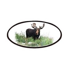 Moose Eating Flowers Patches