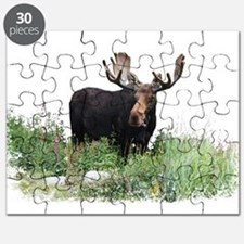 Moose Eating Flowers Puzzle