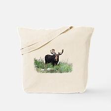 Moose Eating Flowers Tote Bag