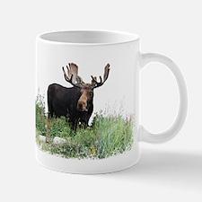 Moose Eating Flowers Mug