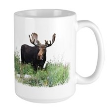 Moose Eating Flowers Mug