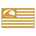 Surf Nation Brown Rectangle Sticker