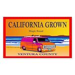 CALIFORNIA GROWN Rectangle Sticker