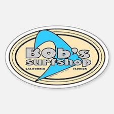 Bob's Surfshop Oval Bumper Stickers
