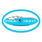 Paul Hunt Surfboards Oval Sticker