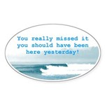 You Really Missed It! Oval Sticker