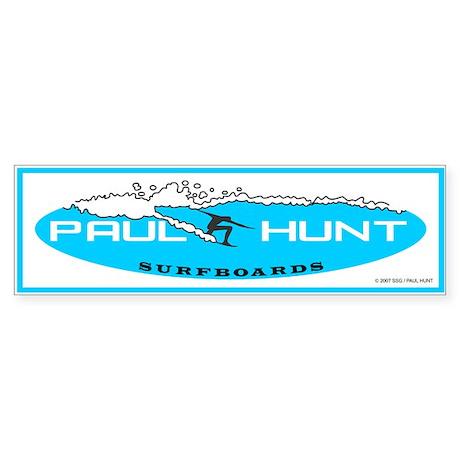 Paul Hunt Surfboards Bumper Sticker