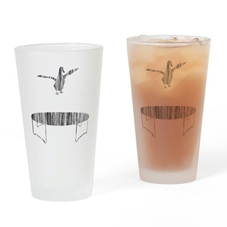 Duck on a trampoline Drinking Glass