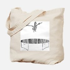 Duck on a trampoline Tote Bag