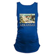 Vintage Arkansas Maternity Tank Top