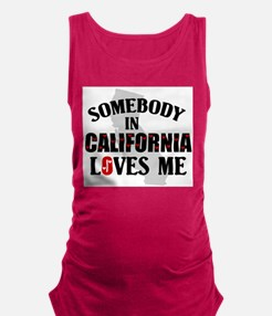 Somebody In California Maternity Tank Top