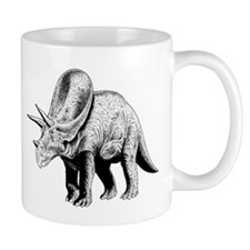 Triceratops Paleontologist at Work Small Mugs
