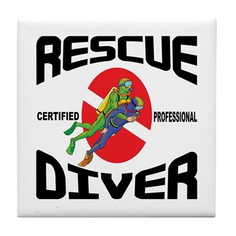 Rescue SCUBA Diver Tile Coaster