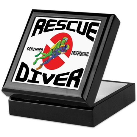 Rescue SCUBA Diver Keepsake Box