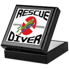 Rescue SCUBA Diver Keepsake Box