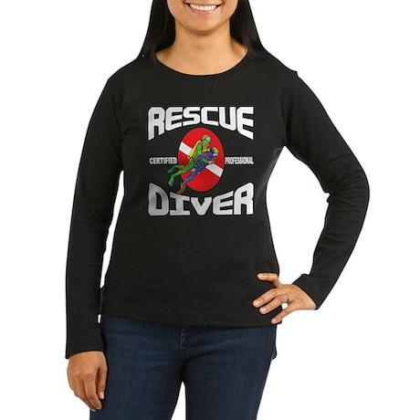 Rescue SCUBA Diver Women's Long Sleeve Dark T-Shir