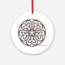 Celtic Heart Pentacle3 Ornament (Round)
