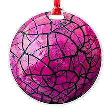 Pink Crackle Shatterproof Ornament