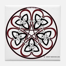 Celtic Heart Pentacle3 Tile Coaster
