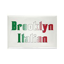 Brooklyn New York Italian Rectangle Magnet