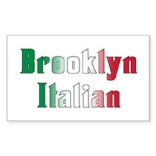 Brooklyn New York Italian Rectangle Decal