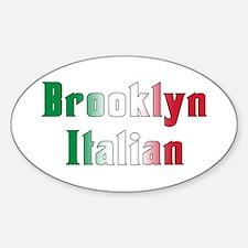 Brooklyn New York Italian Oval Decal