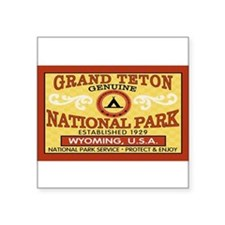 Grand Teton National Park Rectangle Sticker
