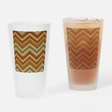 Burnt Orange Burlap Zigzags Drinking Glass