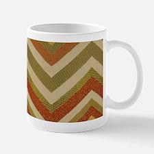 Burnt Orange Burlap Zigzags Mug