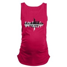 New York Skyline Maternity Tank Top