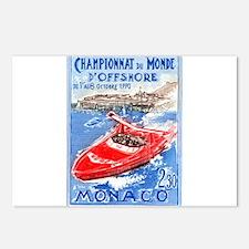 1990 Monaco World Powerboat Championship Stamp Pos