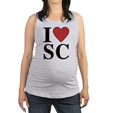 I Love South Carolina Maternity Tank Top