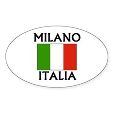 Milano, Italia Oval Decal