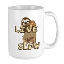 Funny Sloth - LIVE SLOW Mug