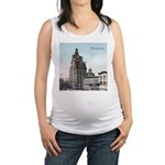 Grunge Wisconsin Flag Maternity Tank Top