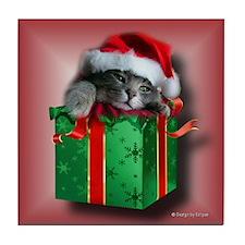 Kitten Present Tile Coaster