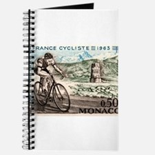 1963 Monaco Racing Cyclist Postage Stamp Journal