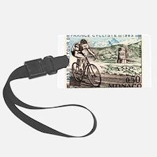 1963 Monaco Racing Cyclist Postage Stamp Luggage T