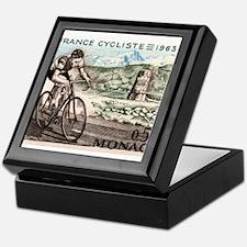 1963 Monaco Racing Cyclist Postage Stamp Keepsake
