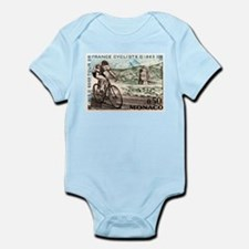 1963 Monaco Racing Cyclist Postage Stamp Body Suit