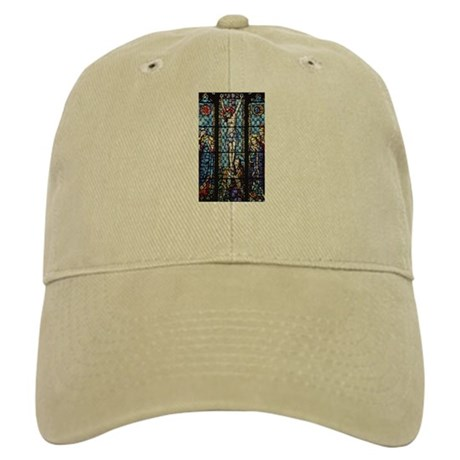 Jesus' Crucifixion Stained Glass Cap